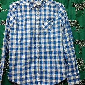 Button up plaid shirt